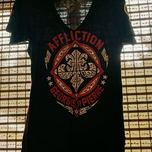 Gently used Affliction GSP tee size M